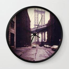 New York City - Manhattan Bridge Tower in Brooklyn Wall Clock