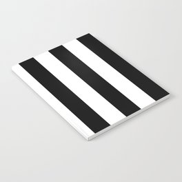 Simply Vertical Stripes in Midnight Black Notebook