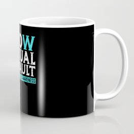 Know Sexual Assault Awareness Month Teal Ribbon Coffee Mug