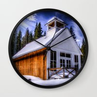 elmo Wall Clocks featuring St Elmo Church by Photography By KC