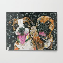 Apollo and Bernie The Boxers Metal Print