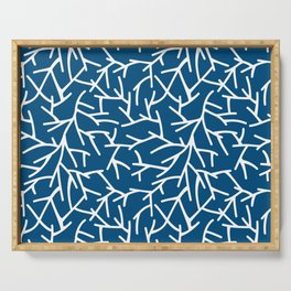 Branches - Blue Serving Tray