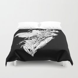 Tobacco & Butterfly Duvet Cover