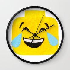 Tears of Joy - Emoji Minifigure Painting Wall Clock