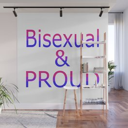 Bisexual and Proud (white bg) Wall Mural