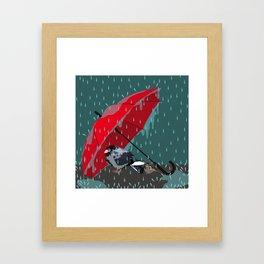 Raaaaaaaaaain Framed Art Print