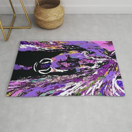 HORSE WILD AND PRETTY OIL PAINTNG Rug