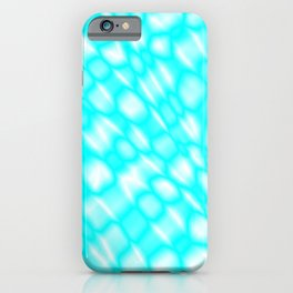 Splashes of paint in a light blue diagonal with cracks on the plastic film. iPhone Case