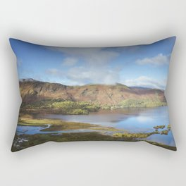 View from Surprise View over Derwent Water to Cat Bells. Lake District, UK. Rectangular Pillow