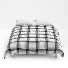 Large White Weave Comforters