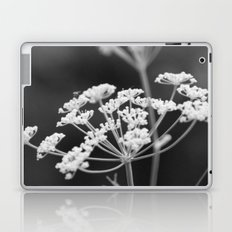 Black and White Floral Laptop & iPad Skin