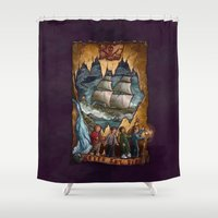 goonies Shower Curtains featuring Goonies Never Say Die by Taylor Rose