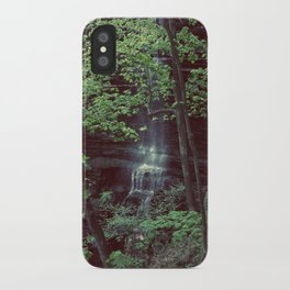 Waterfall Green Trees Color Photography iPhone Case