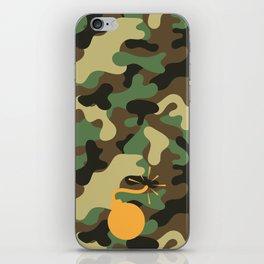 CAMO & ORANGE BOMB DIGGITY iPhone Skin