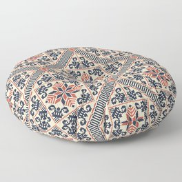Palestinian embroidery pattern Floor Pillow