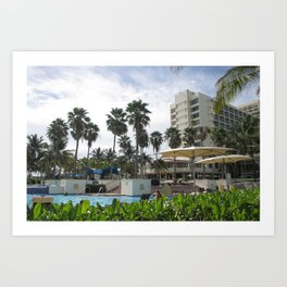 Caribe Hilton San Juan Puerto Rico, before Maria Art Print