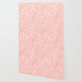 Tropical Dream Palm Leaves Pink Wallpaper