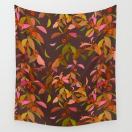 Beautyberry on Purple Wall Tapestry