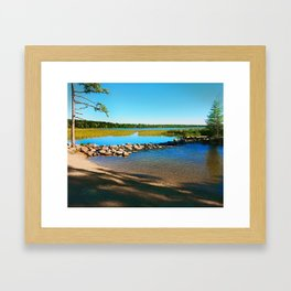 Mississippi Headwaters in October 2013 Framed Art Print