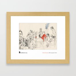 "Marina Grechanik, ""Meal"" Framed Art Print"