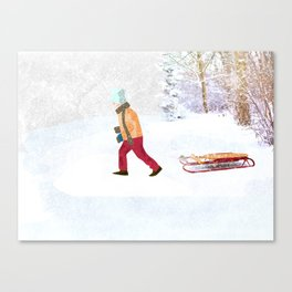 First snow Canvas Print