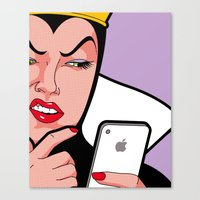 the secret life of heroes Canvas Prints featuring The secret life of heroes - Magic Mirror by Greg-guillemin