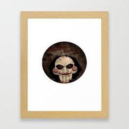Jigsaw Pops Up Framed Art Print