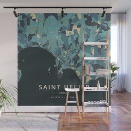 Saint Helier, Jersey - Cream Blue Wall Mural