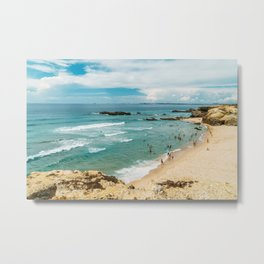 People Having Fun On Beach, Algarve Lagos Portugal, Tourists In Summer Vacation, Wall Art Poster Metal Print