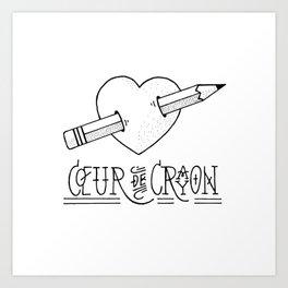 Coeur de crayon Art Print