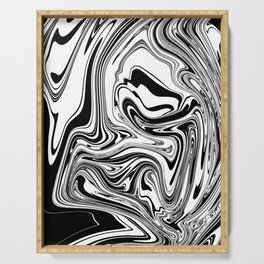 Stripes, distorted 3 Serving Tray