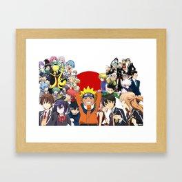 Anime 's heroes Framed Art Print