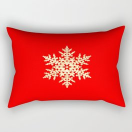Snowflake in a Red Field Gift Rectangular Pillow