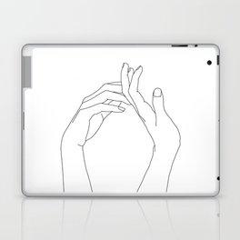 Hands line drawing illustration - Abi Laptop & iPad Skin
