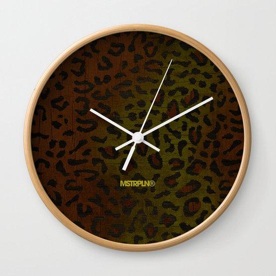 Modern Woodgrain Camouflage / Zaire KDP Print Wall Clock
