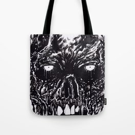 Black Zombie Rotten Tote Bag