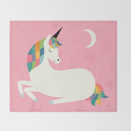 Unicorn Happiness Throw Blanket