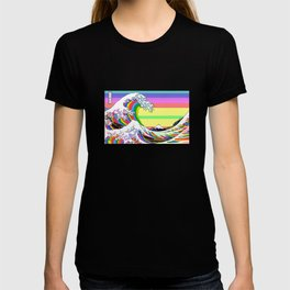 The Great Wave off Kanagawa (Colorful) T-shirt