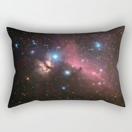 Horsehead and flaming tree nebula, in the constellation of Orion, Milky Way Rectangular Pillow