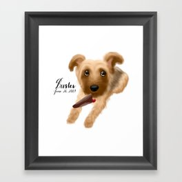 Buster the Silky Terrier Framed Art Print