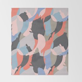 Modern abstract print Throw Blanket