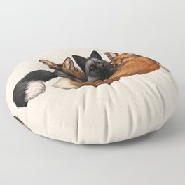 Fox Trio Floor Pillow