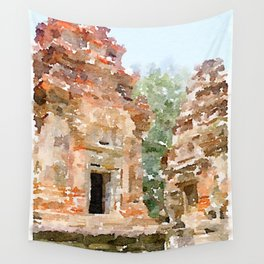 Cambodian Temple near Siem Reap Wall Tapestry