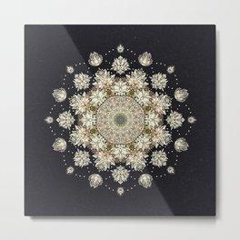 Winter's Spirit Mandala Metal Print