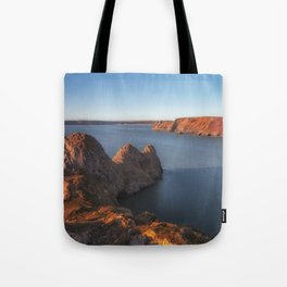Rugged Three Cliffs Bay and the Great Tor Tote Bag