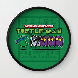 Hero in a Pac-Shell (Leo) Wall Clock