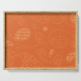 Curly Textured Abstract (Terracotta) Serving Tray
