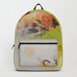 Autmn Floral Umbrella Backpack