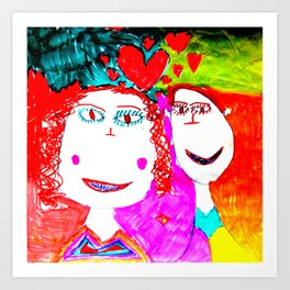 LOVE iN CHiLDHOOD Art Print