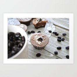 Coffee House - Espresso cups - Food Photography - Cafe Wall Art Art Print